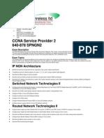 CCNA Service Provider 2