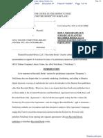 Recorded Books, LLC v. OCLC Online Computer Library Center, Inc. - Document No. 31