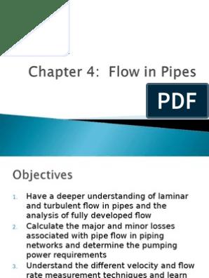 Flow Through Pipes ppt | Physics & Mathematics | Physics