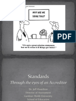 standards through eyes of the accreditor
