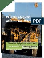 El Reglamento Minero