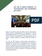 CHILE Para Dar Cara Al Sistema Neoliberal y Al Duopolio Político Empresarial, Nace Coordinadora de Las y Los Que Luchan.