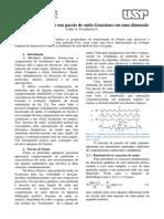 Evolução TemporaPacotesl de Um Pacote de Onda Gaussiano Em Uma Dimensão