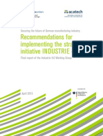 Recommendations for implementing the strategic initiative INDUSTRIE 4.0
