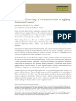 Behavioral Investing a Practitioner's Guide to Applying Behavioural Finance