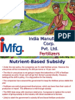 India Manufacturing Corporation (IMFG) -All About Nutrient Based Subsidy