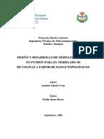 DISEÑO Y DESARROLLO DE MÓDULOS BLENDER EN PYTHON PARA EL MODELADO 3D DE COLINAS A PARTIR DE MAPAS TOPOLÓGICOS