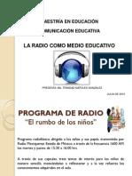 Tarea 7 La Radio Como Medio Educativo