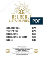 Lista de precios Puros