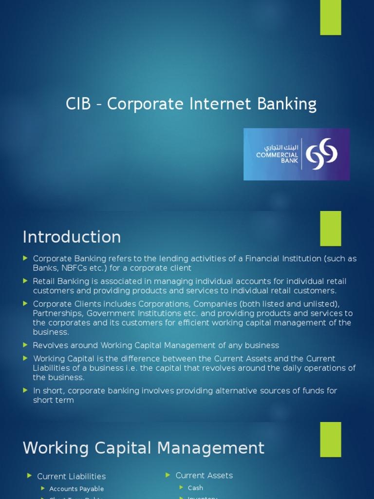 CIB_CoporateInternetBanking.pptx | Transaction Account | Certificate ...