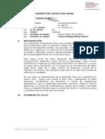 Programación Anual Curricular 1° (Primaria) -  I.E. N° 88153