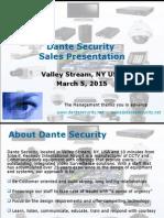 Dante Security Sales Presentation 3-5-2015