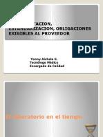 Documentacion, Estandarizacion, Obligaciones Exigibles Al p