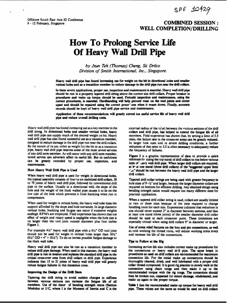 SPE-10429-MS pdf | Drilling Rig | Drill