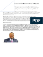 Pierre Wardini - Chances For the Business Savvy in Nigeria