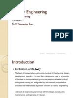 Railway Engineering Lecture 1