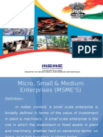 Micro, Small & Medium Enterprises (MSME'S