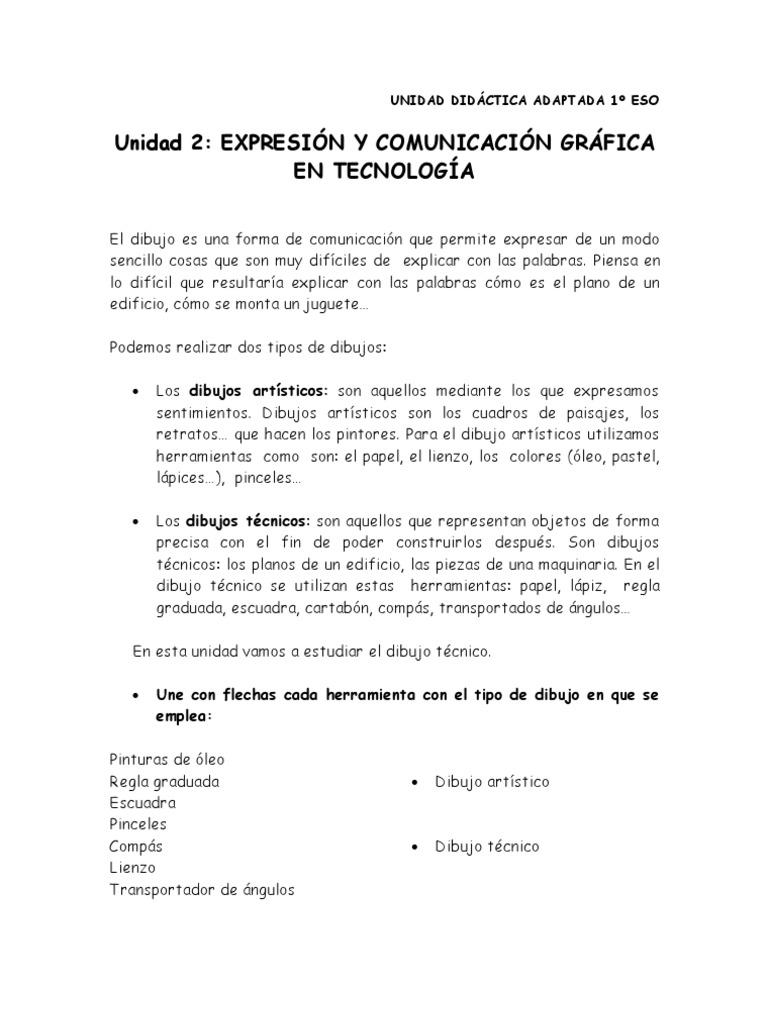 u2 Expresion y Comunicacion Grafica en Tecnologia