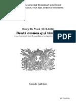 Beati omnes qui timent (5 voix) / Henry Du Mont