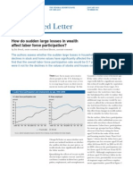 2011 282 - How Do Sudden Large Losses in Wealth Affect Labor Force Participation - French, Benson