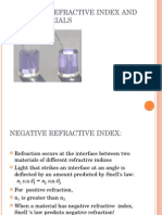 Negative Refractive Index and Metamaterials