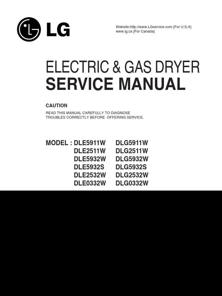 LG Electric and Gas Dryer Service Manual | Electrostatic Discharge |  Electrical Connector
