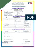 Class Program Grade 8