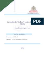 Aguirre, Jorge- La Noción de Hedoné en Los Diálogos de Platón
