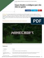 Minecraft  Cheats e Códigos