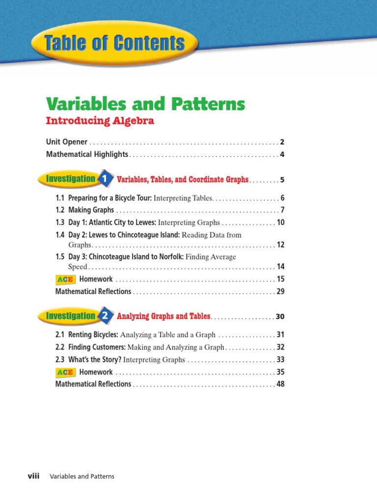 Variables And Patterns Book Cartesian Coordinate System Dvd