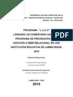 Informe Adicción Cyber Relacional