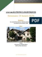 Info Logistique Seminaire SUN Extrait