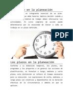 Ramos - Tiempo y Plazos en La Planeacion