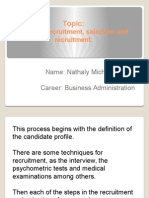 Topic Process Recruitment, Selection and Recruitment.
