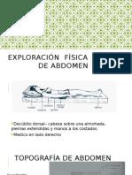 Exploracion Física de Abdomen