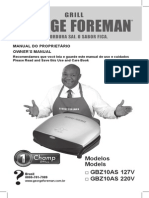 Manual do Grill Gerorge Foreman