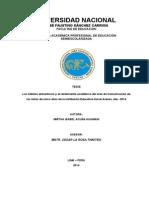Los hábitos alimenticios y el rendimiento académico del área de Comunicación de los niños de cinco años de la Institución Educativa Inicial Arenas, Ate - 2014