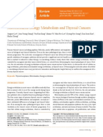 Mitochondrial Energy Metabolism and Thyroid Cancers.