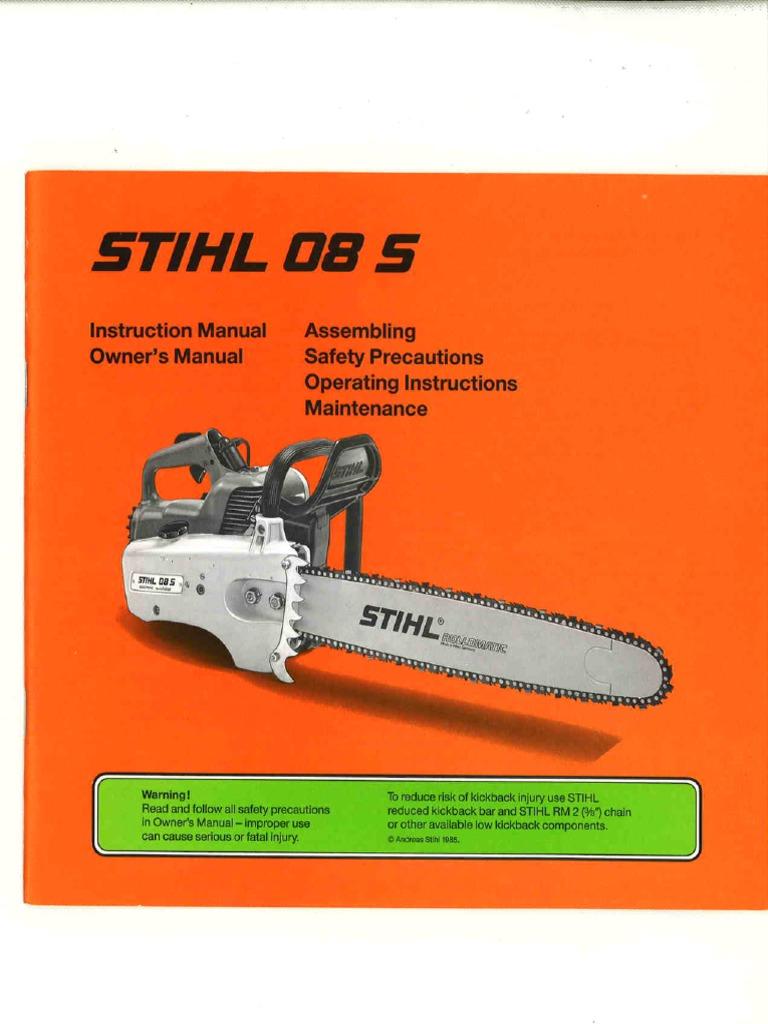Stihl 08s Manual Engine Diagram