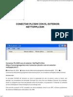 Conectar PLCSIM Con El Exterior_ NetTopPLCSim