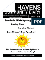 The Havens Community Diary August 2015