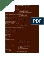Stability Basic Formulas