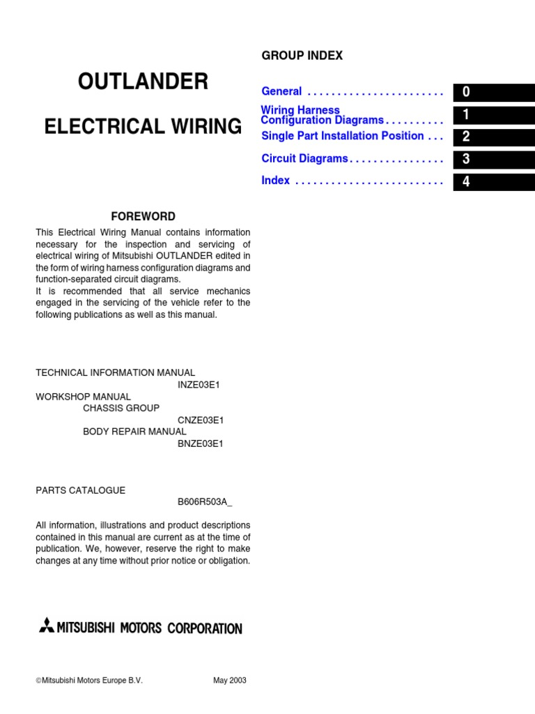 Airtrek       Wiring    Manual   Electrical Connector   Fuse
