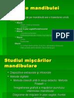 Studiul mişcărilor mandibulare