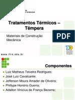 Tratamento térmico - Têmpera