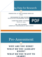 reporting data for research palermo