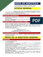 Modalidades de Anestesia 1