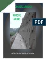 Estruturas de Concreto Armado II-muro-Arrimo