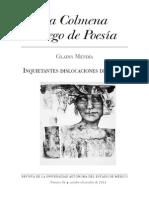Gladys Mendia, Inquietantes Dislocaciones Del Pulso