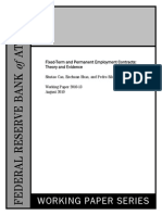 2010 13 - Fixed-Term & Permanent Employment Contracts, Theory & Evidence - Cao, Shao, Silos